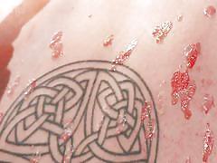 tattoo, babe, hot ass, on chair, executor, hot wax, ball gagged, sadistic rope, kink, elizabeth thorn