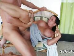 Busty horny housewife craving for cock and doggyfuck
