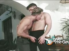 Fervent hunks fucking on billiards table