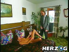 Sexy german babe gets caught masturbating