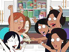 lesbian, black, big tits, party, interracial, asian, gangbang, cartoon, family guy, cleveland show, drawn hentai