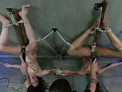 sadism, bdsm, ebony, interracial, slaves, dildos, brunettes, upside down, vibrators, rope bondage, sadistic rope, kink, juliette march, nikki darling
