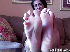 I will let you jerk off to my soft sexy little feet