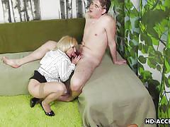 Mature blonde masturbates for you