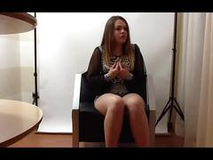 teen, chubby, young, beautiful, spanish, casting, innocent, interview