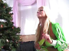 Nikita von james is santa kinky little helper