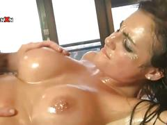 Amazing blonde lexi ward gets oily hardcore fuck