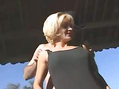 Busty blonde chick and her fuck