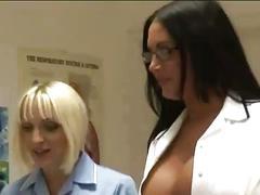 Naughty cfnm nurses get nasty