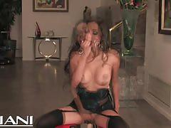 Lupe fuentes gets off with a fucking machine