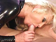 big dick, blonde, babe, threesome, gorgeous, beauty, fetish, latex, mmf, big cock