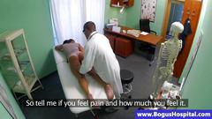 Sexy real patient fingerbanged by her doctor