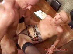 Nasty milf anal adoration blonde cumshot