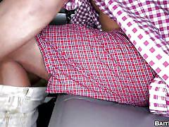 Guy in plaid gets cock sucked