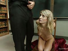 milf, blonde, bdsm, submissive, domination, cross, blowjob, priest, church, tied up, ball gag, sex and submission, kink, steven st. croix, amanda tate