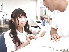 Cute nippon nurse needs to fuck