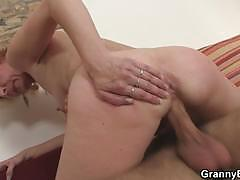 He picks up blonde mature for play