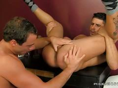 Gorgeous hunks pounding in the office