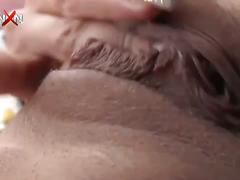 Big boobed sluts have a group fuck