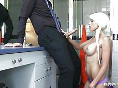 Rikki six does her housework and gives head