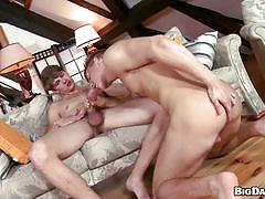 anal, blowjob, couch, bareback, gays, mutual masturbation, from behind, bareback attack, big daddy, chris xx