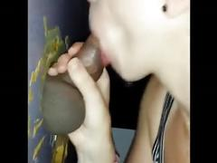 Mom gloryhole swallow