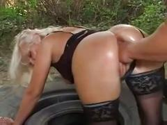 Granny marianne anal fucked and pissed on