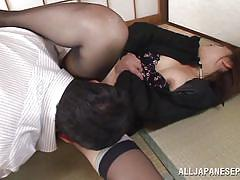 Ai gets her ass kissed and fucked