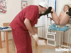 Perverted doctor and a fresh young pussy