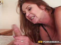 Busty mature milf gets fucked hard a young cock.