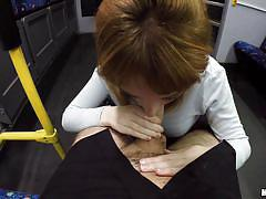 babe, redhead, pov blowjob, train, public sex, pick up, public transport, i know that girl, mofos network, lola gatsby
