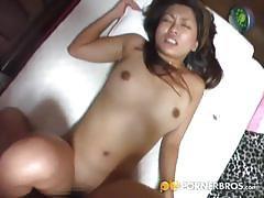 Petite asian slut drilled hard