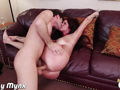 tiffany mynx, brunette, big dick, hardcore, big tits, busty, reverse cowgirl, doggy style, big boobs, huge tits, spoon, big cock, stepmom
