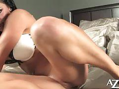 audrey bitoni, brunette, babe, big ass, masturbation, toys, solo, posing, vibrator, beauty, black hair, round ass, teasing, glamour