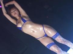 Hgd micro bikini oily dance - akane