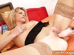 Lovely czech matura masturbates