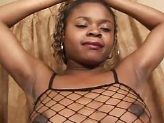 Ebony lesbian lovers share hot pussy licking action