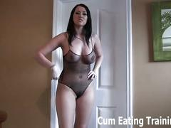 You're a little cum eating slut, aren't you? cei