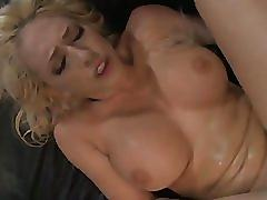 Blonde is teased, toyed, and fucked