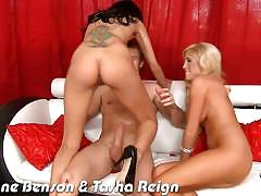 breanne benson, tasha reign, brunette, hardcore, big tits, blonde, busty, lesbian, reverse cowgirl, doggy style, threesome, ffm, cowgirl, eating pussy, licking pussy, missionary