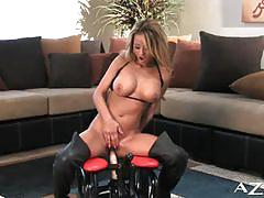 Stunning jodi bean riding the rocker