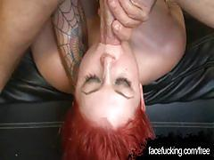 big dick, blowjob, hardcore, big tits, pussy, handjob, gagging, deepthroat, face fucking, reality, red head