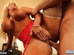 Sensual blonde milf alura jenson gets banged hard