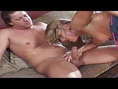Blonde gets ass plugged while fucking and gets ass fucked