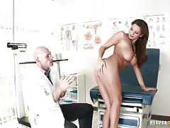 Babe ready for medical examination