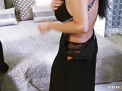milf, slut wife, threesome, stockings, blowjob, titfuck, black hair, real wife stories, brazzers network, vanilla deville, johnny castle, erik everhard