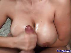 Brunette milf foxy anya showing her blowjob skills