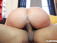 Sexy curvy milf gets her ass fucked  by a bbc