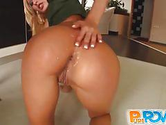 Horny blonde gets her cunt banged pov style