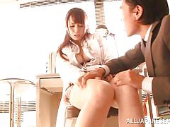 babe, japanese, teacher, panties, brunette, nipple sucking, sexy thighs, jp teacher, all japanese pass, fuuka nanasaki